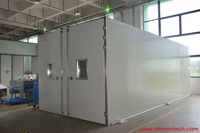 Drive In Walk In Environmental Test Chamber For Automotive Testing 16.28m³